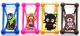 Below 6 Inch Mobile PhoneのためのユニバーサルSilicone Phone Case 3D Cartoon Stitch Minnie Kitty Bear Frame Bumper