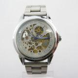 Relógio de esqueleto automático do aço inoxidável (HAL-1293)