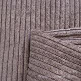 Tissu 100% de velours côtelé de polyester avec le traitement de Cutted