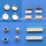 Kundenspezifischer Metallcharme Jewellry bördelt Marken-Metallanhänger für Halskette und Armband