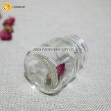 Vaso di muratore di vetro con il coperchio dell'acciaio inossidabile