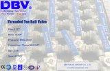 Vávulas de bola de la te de la bola de flotación de los Ts de BSPT/NPT