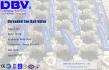 Шариковый клапан тройника плавая шарика резьбы низкой цены BSPT/NPT