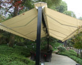 정원과 Walking Street를 위한 Waterproof Cover를 가진 옥외 Furniture Both Sides Open Retractable Awnings