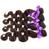 ペルーのバージンの毛ボディ波は加工されていない人間の毛髪3束の自然なカラー1b#安いペルーボディ波の自由な出荷を編む