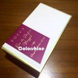 Rectángulo de regalo púrpura del embalaje del papel del perfume de la alta calidad con el papel de la mantequilla
