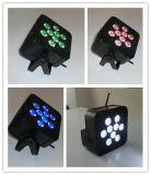 Precio barato 9X10W RGBA Quad con pilas luz interior