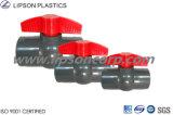 Válvulas industriales plásticas de las válvulas del PVC de la alta calidad