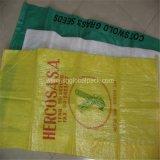 Sacos tecidos do arroz de 25kg 50kg plástico por atacado