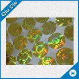 Étiquette riche de papier de collant de laser de couleur pour le module/vêtement de nourriture