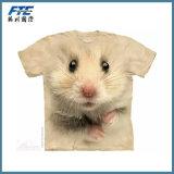 T-shirt fait sur commande du coton 3D avec le logo d'UR