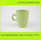 Tasses de café en céramique de couleur solide de grès chaud de vente