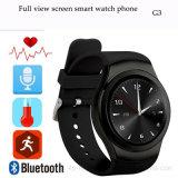 Voll - Ansicht runder Bildschirm Bluetooth intelligentes Uhr-Telefon (G3)