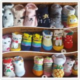 China trifft Fabrik-Baumwollphantasie und reizende Karikatur-Gefäß-Baby-Socken hart