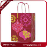 Bolsos brillantes del regalo del papel de Kraft del color, bolso del regalo, bolsa de papel, bolsa de papel que hace compras
