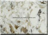 Pedra de mármore artificial de quartzo da cor para o material de construção