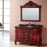 Шкаф ванной комнаты пола стоящий античный с зеркалом
