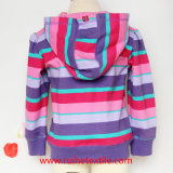 Beiläufiges Stripe, Print, Cotton Fleece Jacket für Girls