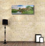 村の景色の油絵