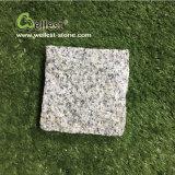 G603自然な分割薄い灰色の白い花こう岩の玉石の石