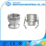Couplage de Camlock acier inoxydable en aluminium/