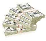 お金か銀行券を包むために紙テープ