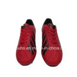 赤いカラー販売のための屋外のサッカーの靴