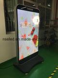 Panneau de publicité d'intérieur debout mince d'affiche de cadre d'éclairage LED de la technologie 2017 neuve