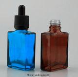 frascos 30ml de vidro quadrados com o conta-gotas de vidro evidente da calcadeira sem perigo para as crianças