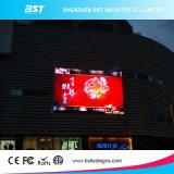 Diodo emissor de luz ao ar livre da fonte P10mm da fábrica de China que anuncia a tela de indicador Boad com projeto da curva