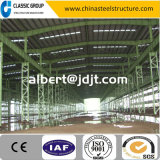 Industrielles Stahlkonstruktion-Lager/Werkstatt/Hangar/Fabrik mit Gitter-Spalte billig Heiß-Verkaufen