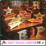 Indicatore luminoso di immaginazione del segno della lettera del LED per la decorazione di cerimonia nuziale/partito/natale