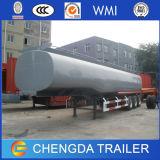 Tri del árbol de petróleo del combustible del transporte del tanque acoplado semi para la venta