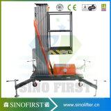 6m à la plate-forme simple en aluminium aérienne de table élévatrice du mât 10m