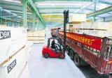 Elevador grande del cargo de la carga de las mercancías de la capacidad del DSK