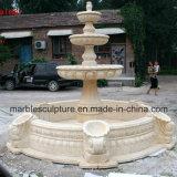 Fonte de água de pedra de mármore de creme da escultura de Egipto (SY-F028)