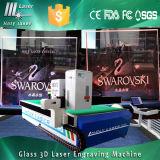 Große 2D Gravierfräsmaschine Laser-3D für Glas