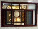 Energiesparender Woodgrain-schiebendes Aluminiumfenster (BHA-SW34)