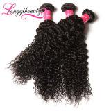 Dauerhafte lange preiswerte unverarbeitete Jungfrau-malaysisches lockiges Haar