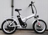 Складывая электрический велосипед с тучной автошиной