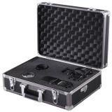 Zeikos Tool/SLR 사진기 전송 여행 단단한 알루미늄 금속 상자 또는 서류 가방 까만 Pyc-208