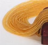 Gmenstone 느슨한 수정같은 물가는 귀여운 크기 2mm 3mm 자연적인 노란 석영 원석을 도매한다