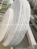 安いイタリアのBiancoカラーラの白い大理石のテーブルの上
