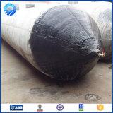 Nave inflable que lanza los sacos hinchables de goma marinas neumáticos