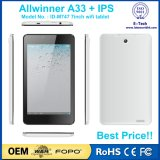7 таблетка Android 5.1 800X1280 IPS Квад-Сердечника Allwinner A33 дюйма дешевая
