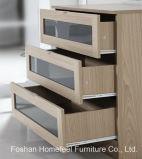 تصميم جديد عال لمعان غرفة نوم خزانة ثوب ثلاثيّة مجموعة