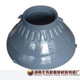 L'usura del frantoio per pietre parte Metso HP300 concavo e manto