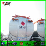 Tri acoplado del carro del depósito de gasolina del petróleo del árbol 42000L