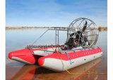 Bateaux de recherche d'Aqualand et d'air de délivrance, bateau d'air de côte, bateau gonflable rigide d'air (airboat 420)