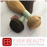 柔らかい100%年のバージンのペルーの人間の毛髪の織り方